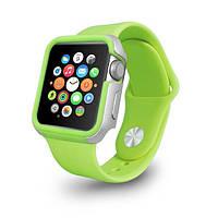 Чехол OZAKI O!coat для Apple Watch 38cm-Shockband Case Green