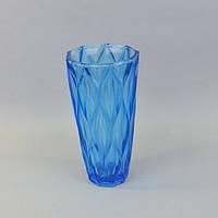 Ваза для цветов стеклянная (30*15 см) синяя