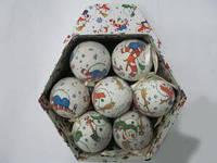 Подарочный набор елочных шариков Снеговик 14 шт.