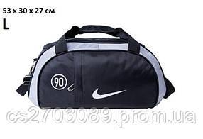 Сумка спортивная Nike Fitness light L, 53х30х27см, черный