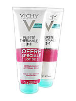 "Универсальное средство для снятия макияжа ""Интеграль Демакияж 3 в 1"" Vichy Purete Thermale One Step Cleanser 3 in 1 2 x 300ml"