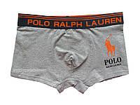 Мужские трусы боксёры Polo Ralph Lauren серые
