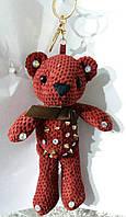 111 Брелоки- игрушки для сумок и ключей. Брелок вязаный медведь