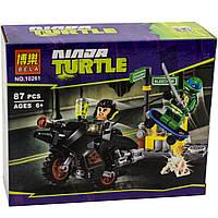 Конструктор Bela 10261 Черепашки Ниндзя Бегство Караи на байке (аналог Lego Ninja Turtles 79118)