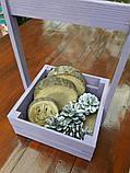 Ящичек деревянный с ручкой для цветов и сувениров., фото 2