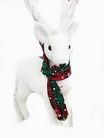 Новогодняя Статуэтка Реалистичный Белый Олень для Атмосферы Нового Года Рождества