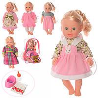 Кукла 3008E (18шт) Анюта,37см,зв,горшок,бутыл,соска,подгузн,6 вид,на бат-ке(таб),в рюкзак,19-27-14см