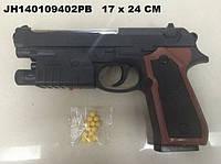 Пистолет  с пульками, лазер.кул.25*4*17 см (Пистолет M-163A1 с)