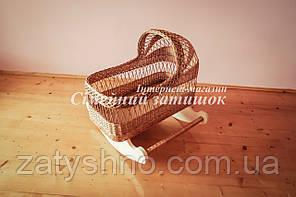 Плетена колиска ліжечко натуральна на полозах
