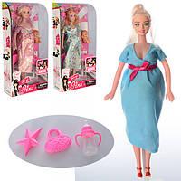 Кукла 6026S (60шт) беременная,29см,пупс,бутылочка,сумочка,расческа,микс видов, в кор-ке, 15-31,5-6см