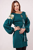 Трикотажное платье вышиванка KAVERINA