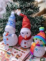 Новогоднее Интерьерное Украшение Снеговик Светящийся 10 см