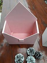 Шухлядка-конверт дерев'яний для квітів і сувенірів.