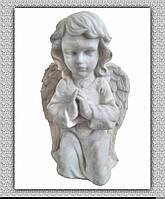 Скульптура мраморная Ангел молится №10 (белый) 41 см.
