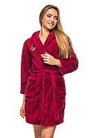 Женский халат махровый (софт) короткий