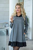 Женское Платье, цвет: серый