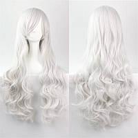 Красивый парик. Волнистые волосы, цвет белый