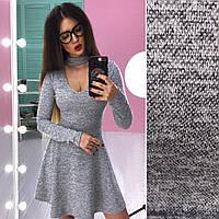 Теплое платье из ангоры с чокером (разные цвета)
