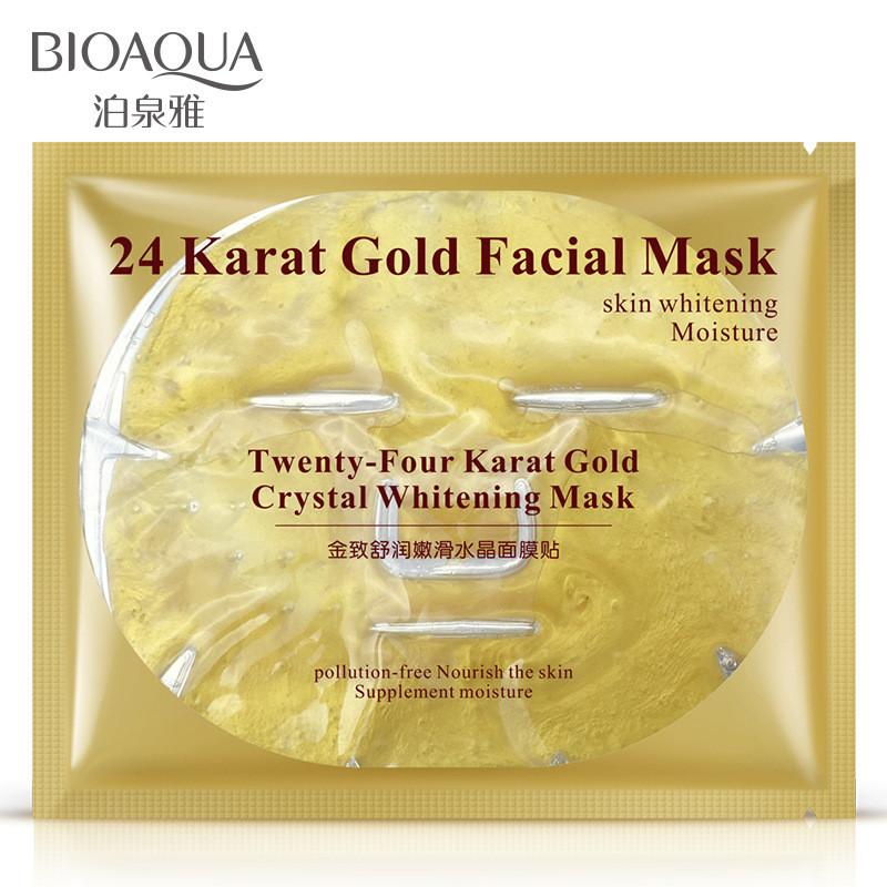 Гидрогеллевая маска с нано-золотом BIOAQUA 24 Karat Gold Facial Mask