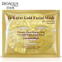 Гидрогеллевая маска с нано-золотом BIOAQUA 24 Karat Gold Facial Mask, фото 1