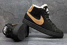 Зимние высокие кроссовки Nike,замшевые, на меху, фото 3