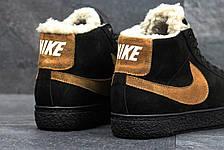 Зимние высокие кроссовки Nike,замшевые, на меху, фото 2