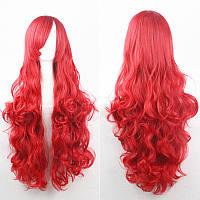 Красивый парик. Волнистые волосы, цвет красный