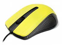 Мышь Gembird MUS-101-Y, оптика, Yellow USB