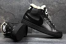 Зимние высокие кроссовки Nike,кожаные, на меху, фото 2