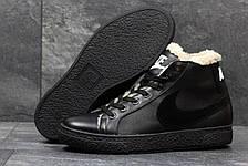 Зимние высокие кроссовки Nike,кожаные, на меху, фото 3