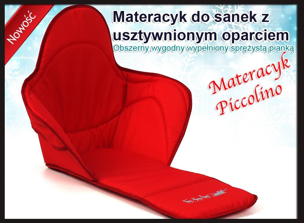 Матрас (длинный)  к санкам PICCOLINO і PICCOLINO Xdrive (красный)