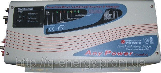 Преобразователь (инвертор) напряжения 24/220 Q-POWER 5024/5(10)кВт sinus lcd
