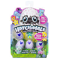 Hatchimals CollEGGtibles: Набор из четырех коллекционных фигурок в яйцах + бонусная фигурка (в ассорт) уценка