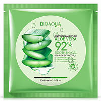 Успокаивающая тканевая маска для лица с алоэ BIOAQUA Soothing & Moisture Aloe Vera 92% Gel Face Mask