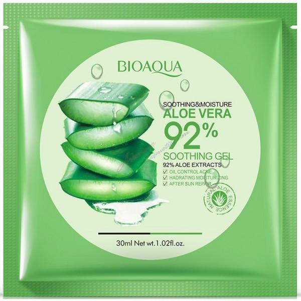 Успокаивающая тканевая маска для лица BIOAQUA Soothing & Moisture Aloe Vera 92% Soothing Gel Face Mask