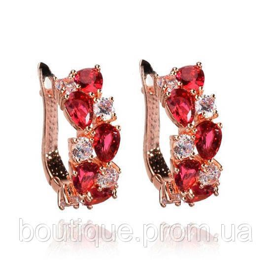 Серьги для невесты с розовыми камнями Dolce Pink 182159 - Интернет-магазин бижутерии и аксессуаров Boutique to You в Киеве