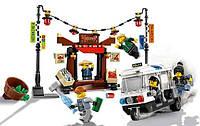 Конструктор LEPIN 06053  Ninjago Movie (аналог Lego 70607) Ограбление киоска в Ниндзяго Сити