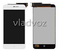 Дисплей модуль экран с сенсором для замены на Meizu MX2 LCD белый