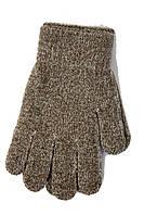 Вязаные детские перчатки 5002М-11 коричневые