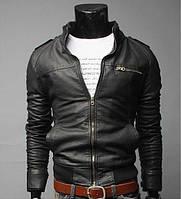Куртка мужская кожанка черная 2A
