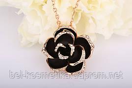 Колье Small Black Rose Swarovski