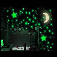 Луна и звезды зеленые