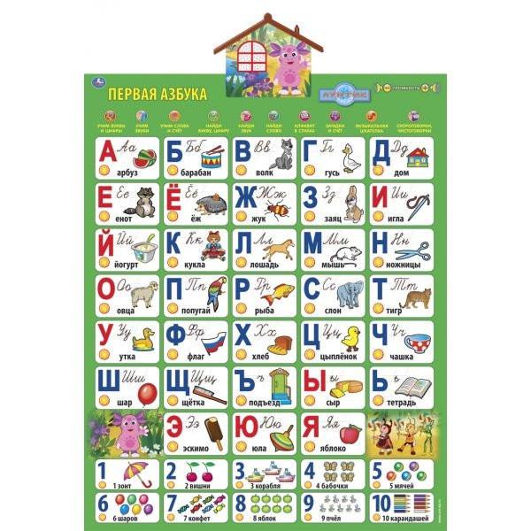 Интерактивный плакат Азбука с Лунтиком