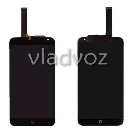 Дисплей модуль экран с сенсором для замены на Meizu MX4 5.3 LCD черный + рамка, фото 2