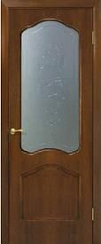 Двери Каролина стекло с рисунком шпон натуральный