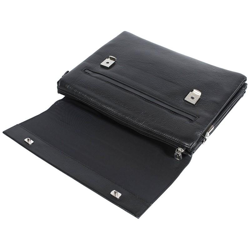 4ab1804f26f9 ... Деловая мужская кожаная сумка горизонтальная формата А4 черная High To  4 ...