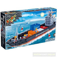 Конструктор banbao 8767 транспорт контейнеровоз