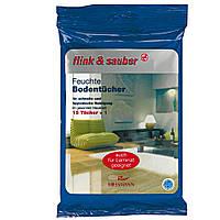 Влажные тряпки для пола flink & sauber для быстрой и гигиенической чистки 16 штук