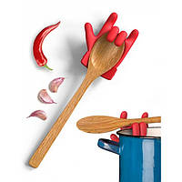 Держатель крышки кастрюли и ложки (подставка) Chef Hero Rocket Design (красный)