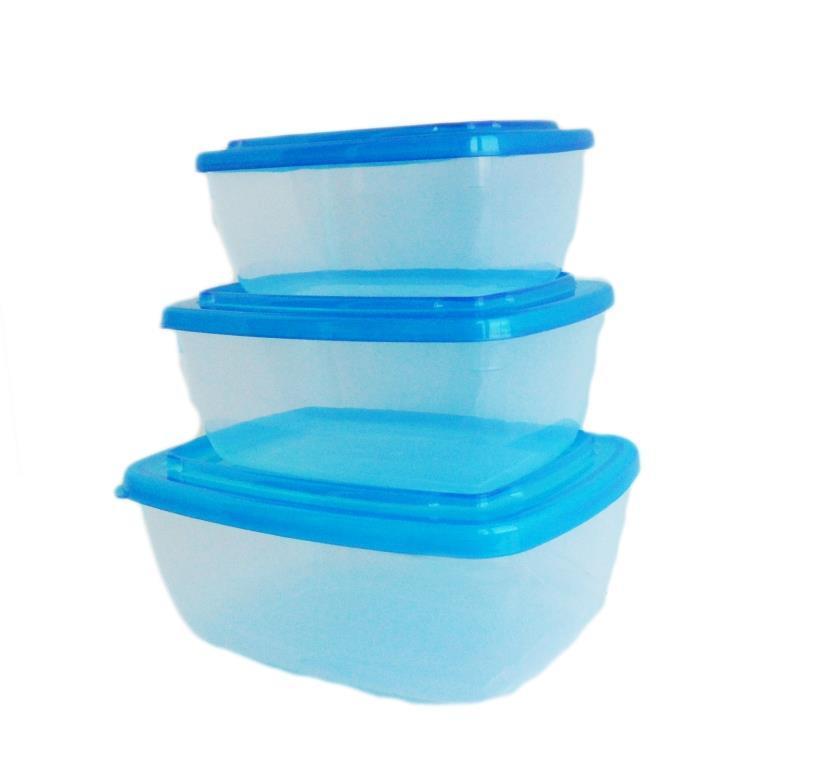 Набор контейнеров для пищевых продуктов: 0,6л.+1,0л.+1,5л.